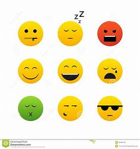 Different emotion faces stock vector. Illustration of ...