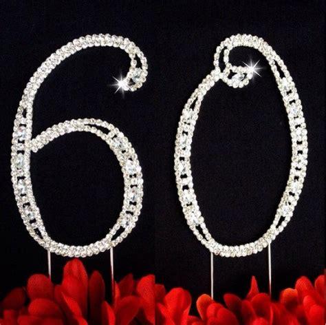 large rhinestone number 6 anniversary 60th birthday wedding anniversary number cake topper large