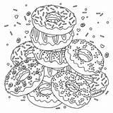 Coloring Donuts Donut Colorfly Kleurplaten Printable Colouring App Instagram Pe Favorite Them Flavor Freebie Adult Adults Official Kleuren Mandala Tekeningen sketch template