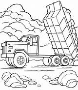 Dump Truck Coloring Pages Printable Trucks Construction Getcoloringpages sketch template