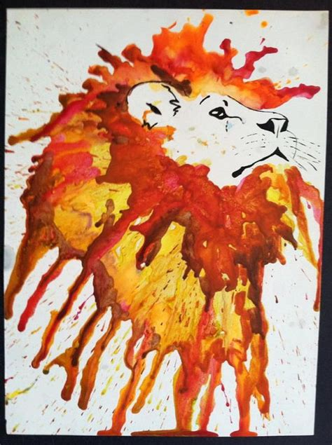 cool melted crayon art ideas