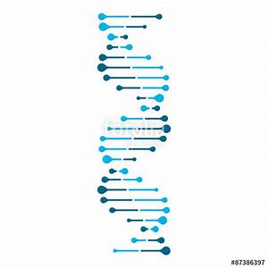"""""""Abstract DNA strand symbol. Isolated on white background ..."""
