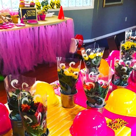pailyn s bash girly party ideas kara 39 s party ideas girly construction themed birthday