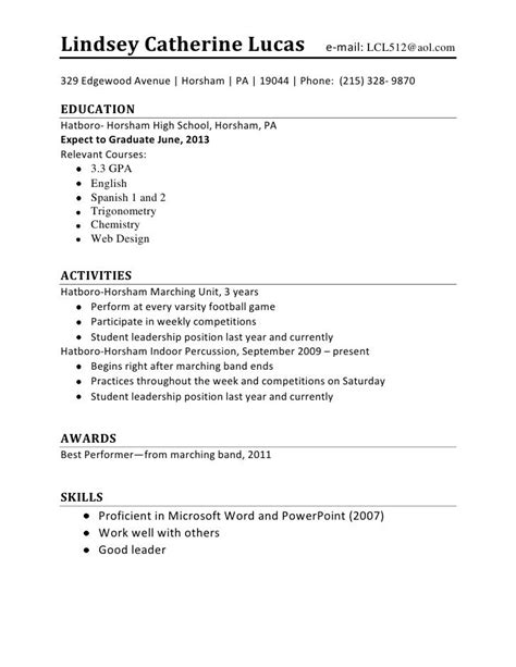 resume  teenagers  job vvengelbertnl