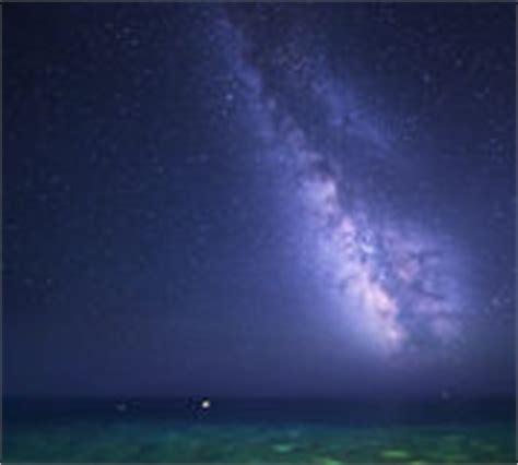 Starry Night Ocean Background Stock Vector Image