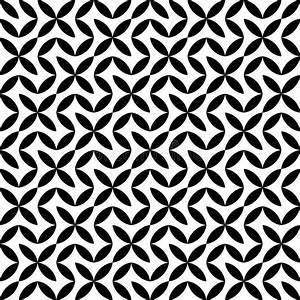 Vector Hipster Abstract Geometry Pattern Flower,black And ...