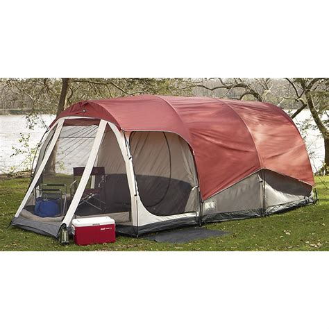 cabin tent with porch maker s 20x10 cabin dome tent with covered porch