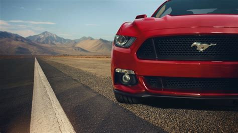 wallpaper  ford mustang gt red front