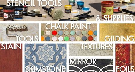 Stenciling, Chalk Paint, Faux Painting Supplies Royal