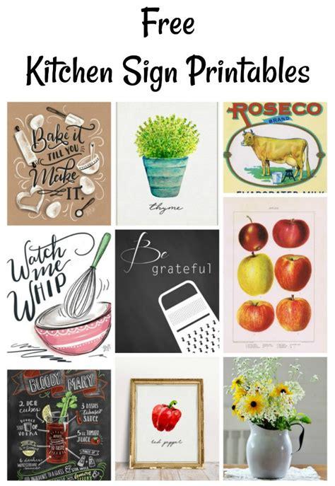 instant artwork kitchen signs printables knick  time