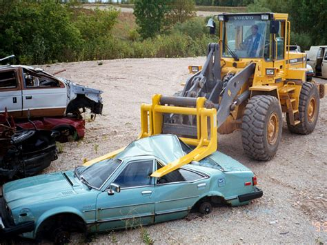 Crushing Forks In Auto Salvage Forklift Attachments Sas