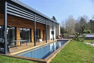 Maison Bois Contemporaine : maison en bois france ~ Preciouscoupons.com Idées de Décoration