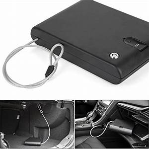 Ivation Portable Biometric Car Gun Safe  U2013 Features