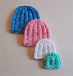 Preemie Baby Hat Knitting Pattern