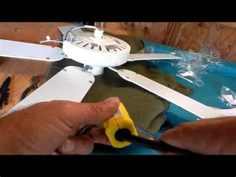 Installing Electric Outlet Plug Ceiling Fan Youtube