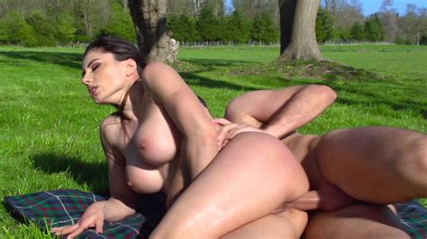 Brazzers Network Hot Brunette Is Posing Naked Outdoors