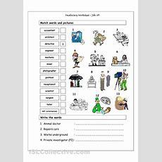 Vocabulary Matching Worksheet  Jobs (3)  Teens Eslefl Classroom  Matching Worksheets