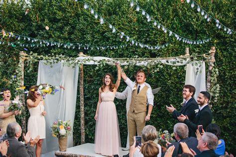 planned   backyard wedding  seventeen days