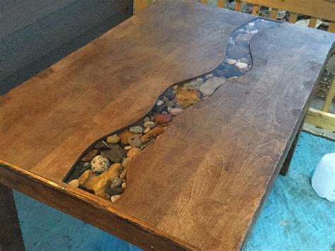 Finally Built The Dining Table With A Resin River I've