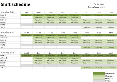 Duty Schedule Template by Duty Roster Excel Templates For Every Purpose