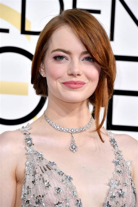Emma Stones Golden Globes 2017 Beauty Look Hollywood