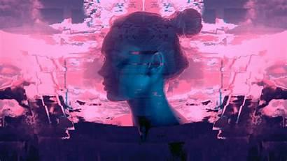 Vaporwave Wallpapers Glitch Aesthetic Eyes Desktop Bun