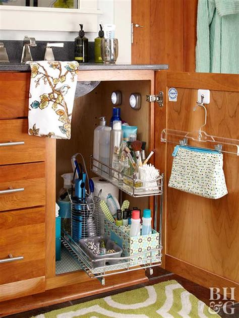 ways  organize bathroom cabinets  homes gardens