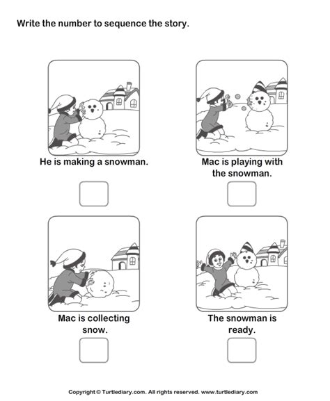 story sequencing worksheet 7 turtle diary