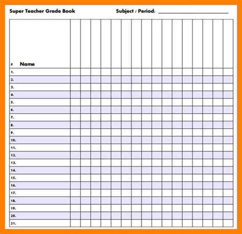 Gradebook Template 4 Gradebook Template Pdf Fancy Resume