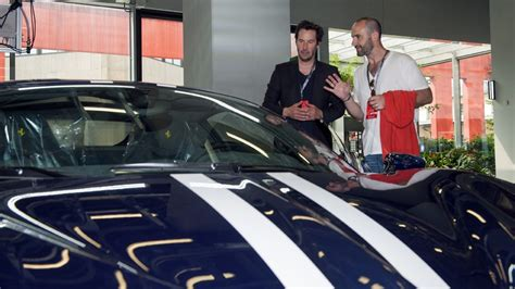 Keanu Reeves Visits Ferrari Headquarters, Drives 488 GTB ...