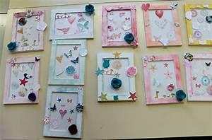 Cadre Deco Enfant : scrapbooking cadre photo bebe ~ Teatrodelosmanantiales.com Idées de Décoration