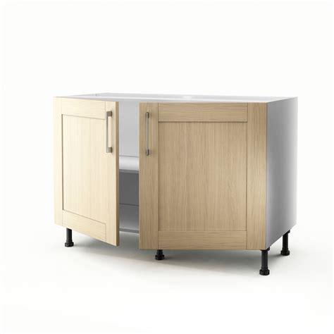 meuble sous evier de cuisine meuble de cuisine sous évier chêne clair 2 portes cyclone