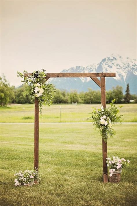stunning wedding arch ideas   ceremony