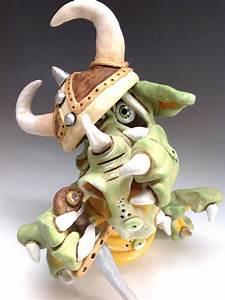 Dragon, Viking, Pottery, Ceramic, Sculpture