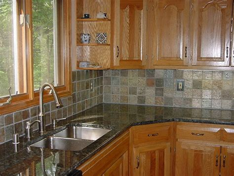 Kitchen Backsplash Pictures With Oak Cabinets by Backsplash Tile Ideas Oak Cabinets Home Design Ideas