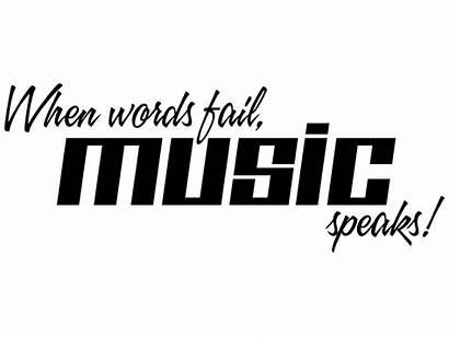 Fail Words Speaks Wandtattoo Musik Ausgewaehlt Farbwahl