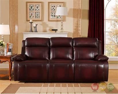 Leather Sofa Genuine Power Deep Recline Headrest