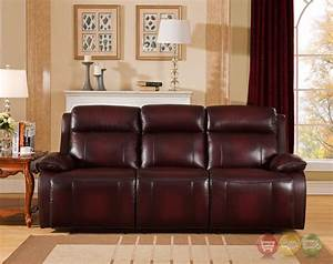 faraday genuine leather power recline sofa in deep red With deep red sectional sofa