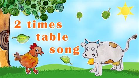 2 Times Table Song Youtube
