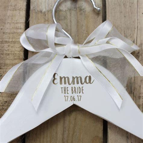 personalised wooden bridal hangers custom wedding dress