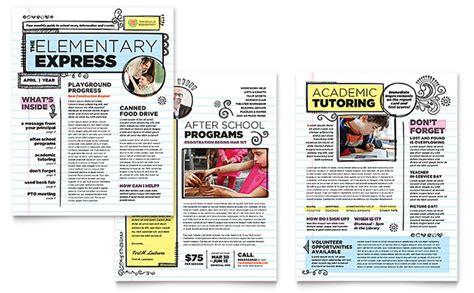 Elementary School Newsletter Template Design
