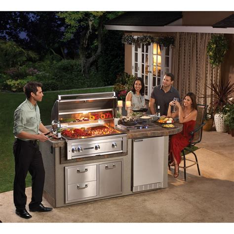 lynx sedona deluxe bbq island with 36 inch gas bbq