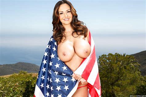 Hot Milf Ava Addams Wraps Self In Usa Bikini And Flag