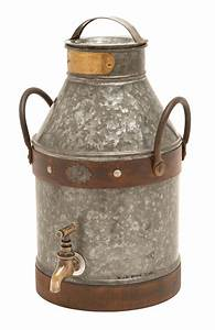 Large, Metal, Milk, Jug, Spigot, Detail, Copper, Handles, Rustic, Home, Decor, 38178