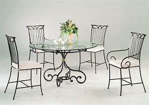 chaise de cuisine en fer forge With table de cuisine en fer forge