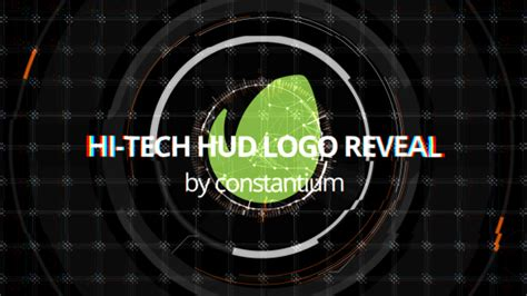 Hi-tech Hud Logo Reveal (technology) After Effects