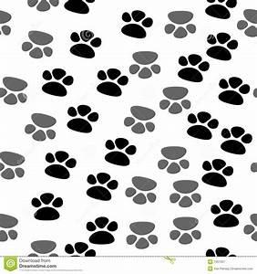 Seamless Footprint Pattern Stock Vector  Illustration Of