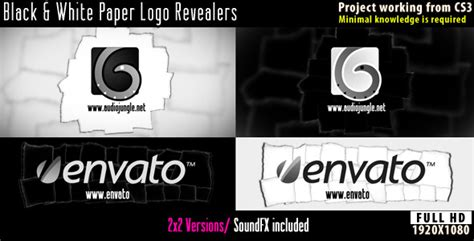 Time Lapse After Effects Template by Paper Logo Revealers Black And White After Effects