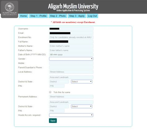 amu application forms  apply    forms