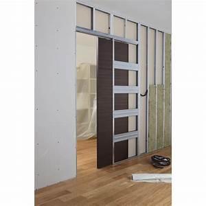 Porte A Galandage Double : syst me galandage en kit pour porte coulissante artens 3 l ~ Premium-room.com Idées de Décoration